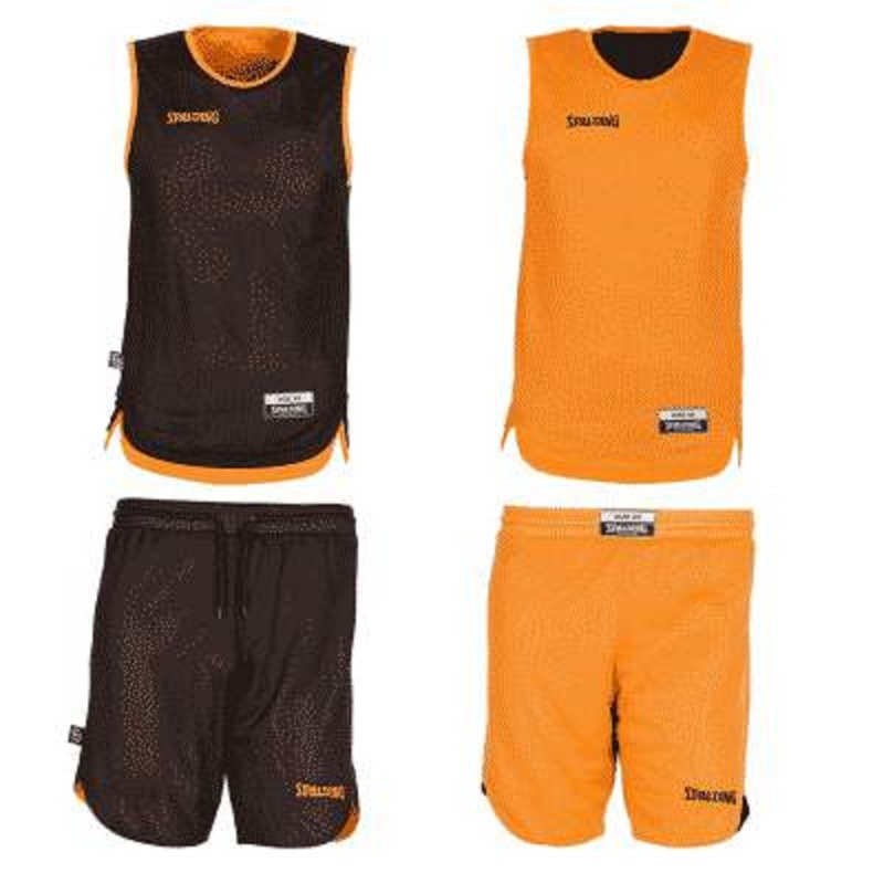 Large kit reversible junior orange noir
